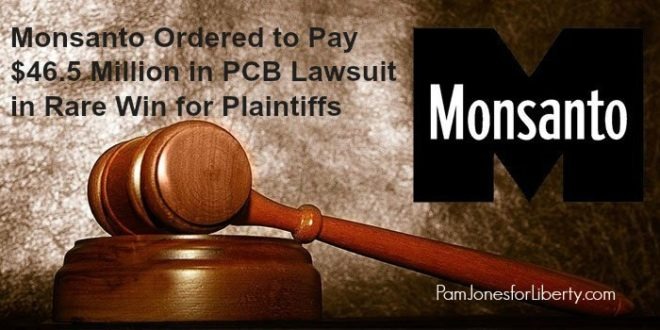 Monsanto Ordered to Pay $46.5 Million in PCB Lawsuit in Rare Win for Plaintiffs