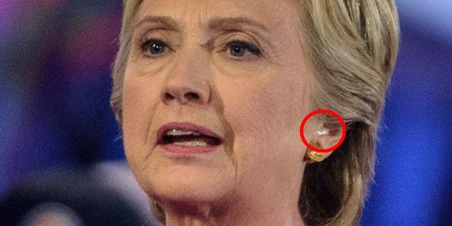 Was Hillary Wearing an Earpiece During Last Night's Presidential Forum?