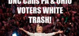 DNC Call Pa & Ohio Voters White Trash And Stupid Morons!